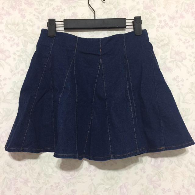 《全新》傘狀牛仔短裙