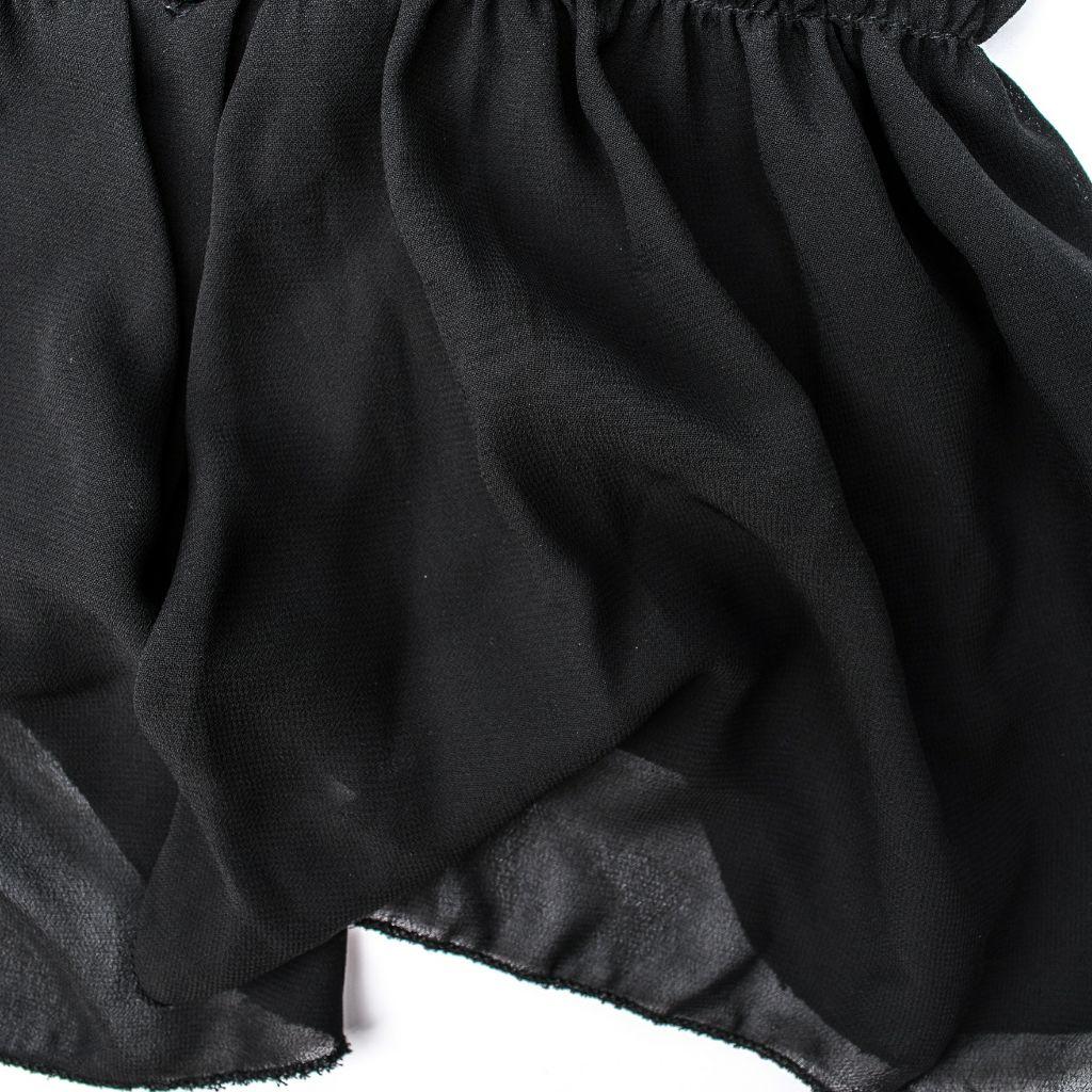 紡紗黑色洋裝