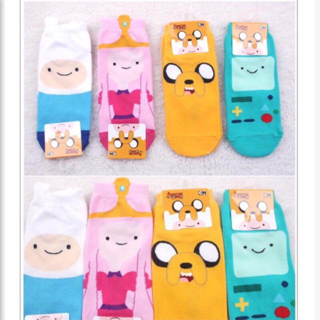 韓國帶回~卡通系列 探險活寶 阿寶與老皮圖案短襪 學生襪 腳踝襪