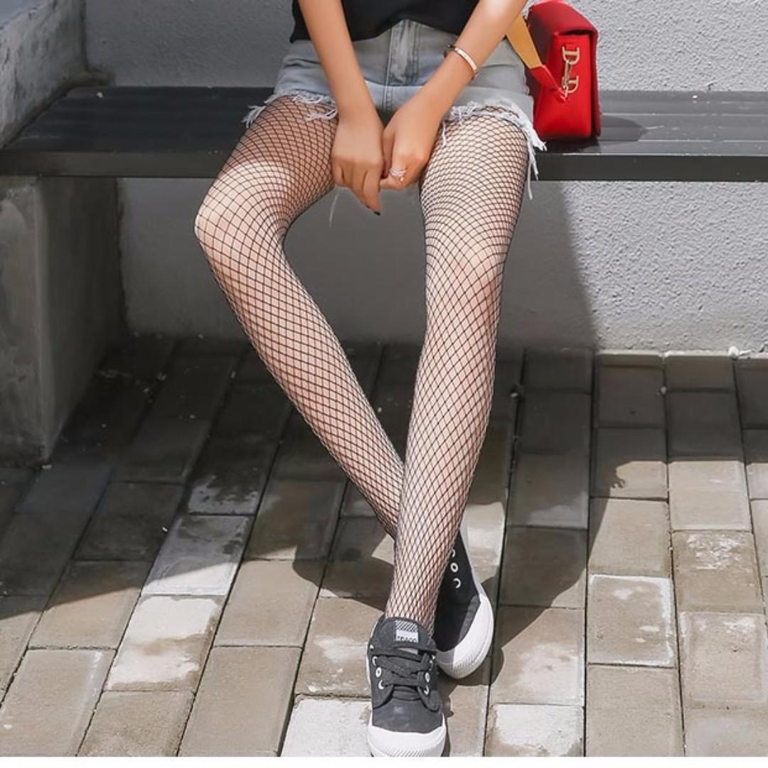原宿風 網襪 褲襪 漁網襪  #手滑買太多