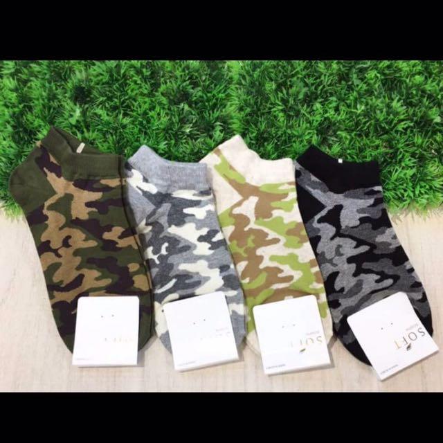 韓國帶回~女版 迷彩圖案 迷彩襪 短襪 腳踝襪 學生襪