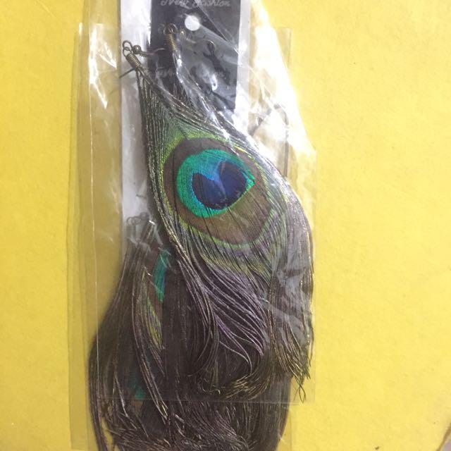 🚪 Peacock Earrings