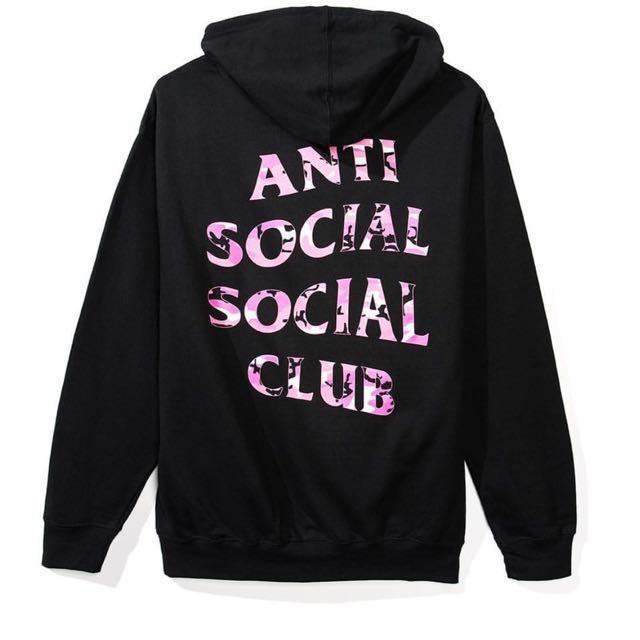 2d558b88351b Anti social social club Beverly Red  Black hoodie (代購)