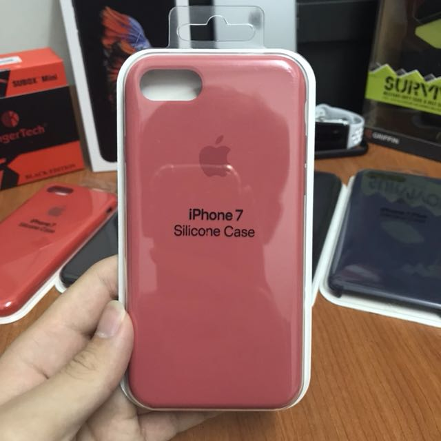 6e7f27bcb8f Apple Original iPhone 7 Silicone Case Camellia, Mobile Phones & Tablets,  Mobile & Tablet Accessories, Cases & Sleeves on Carousell