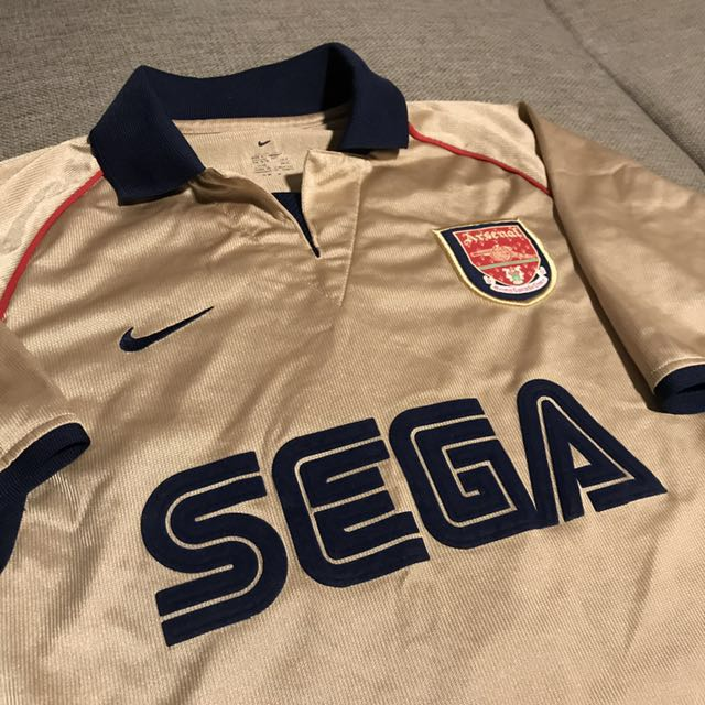 brand new 77feb 48362 Arsenal Away Shirt Jersey Sega Small Gold Pires 7, Sports ...