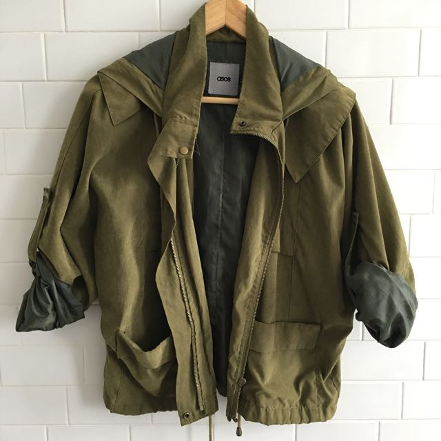 Asos over run Over Sized Green Jacket