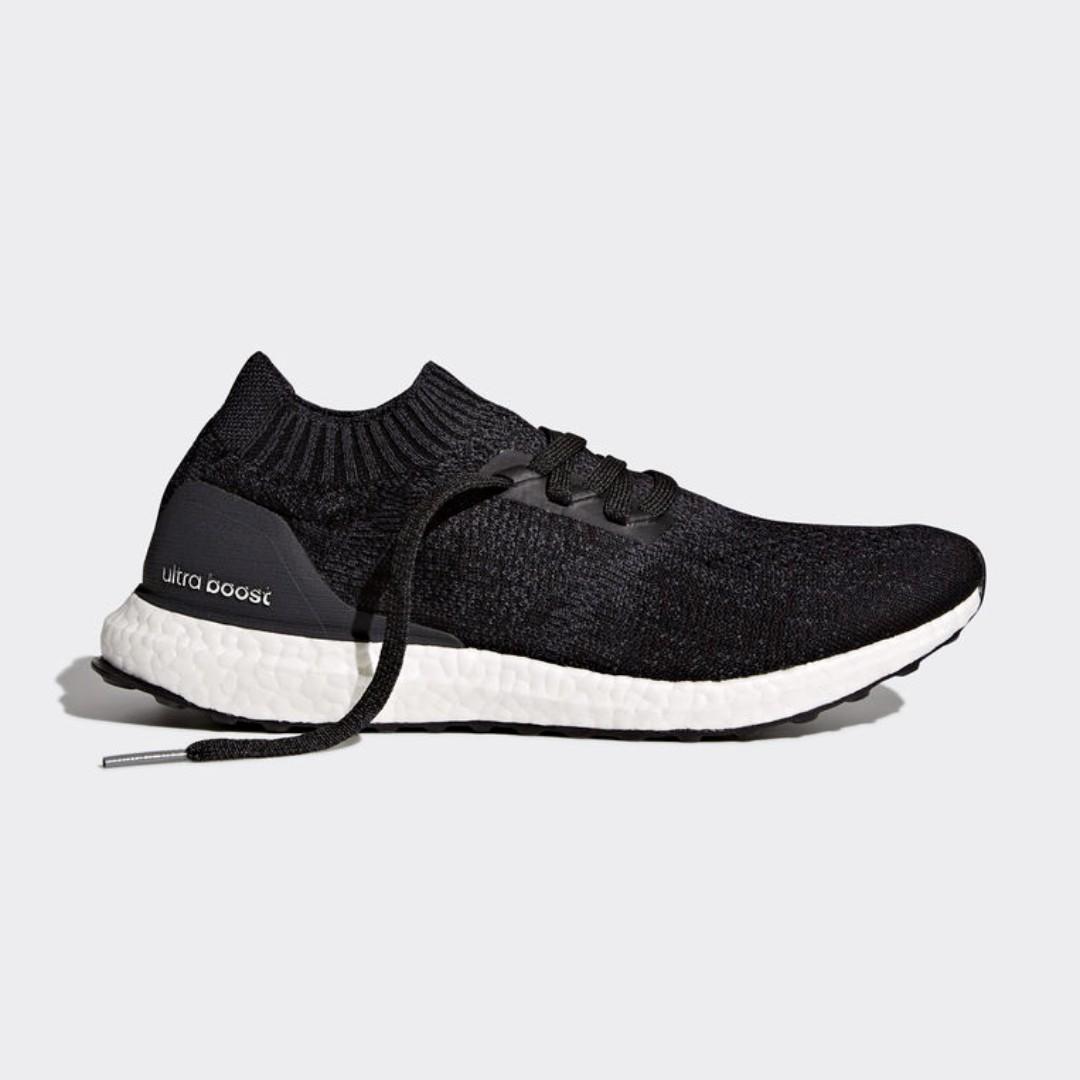 Authentic Adidas ultra Boost uncaged Core Negro, los hombres de la moda