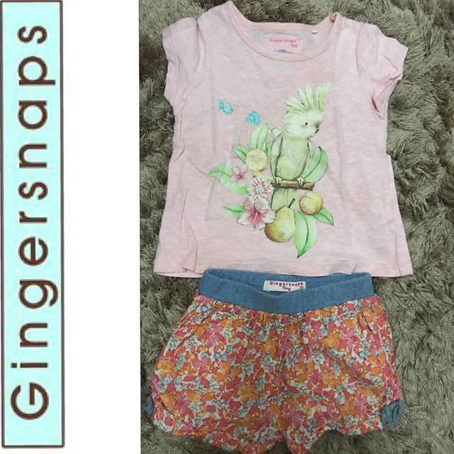 Authentic Gingersnaps Bundle (top 18M cute shorts 12M)