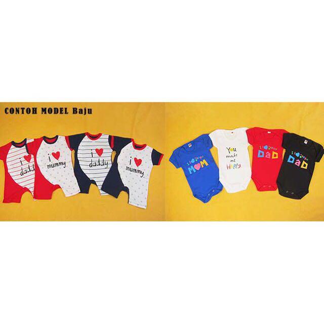 Baju jumper bayi 3 in 1 katun