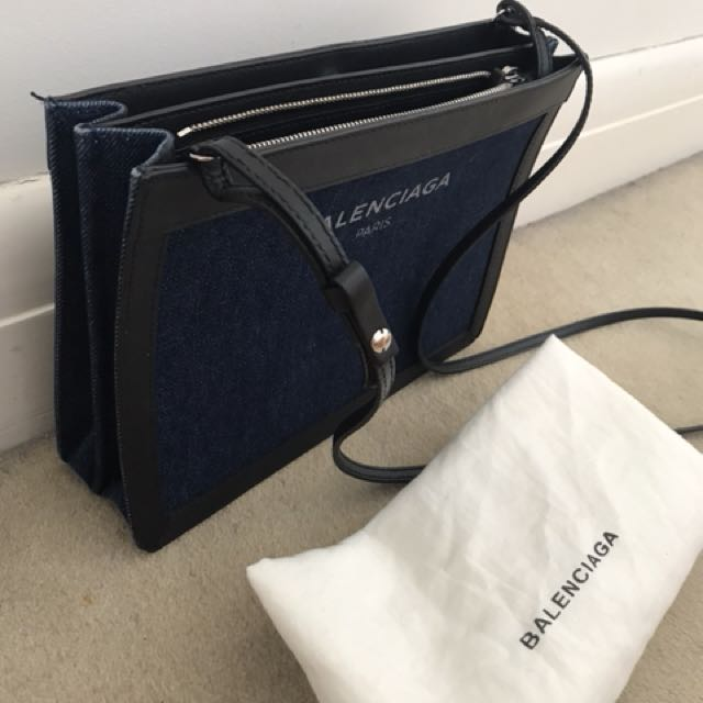 Balenciaga Denim Pochette Bag