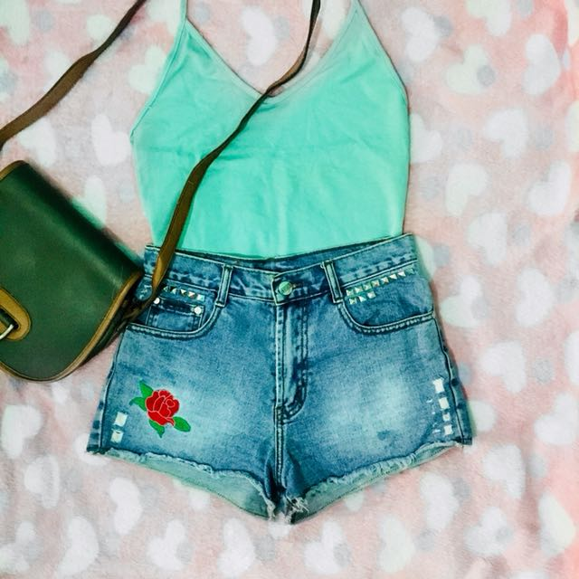 Basic Halter Top in Teal