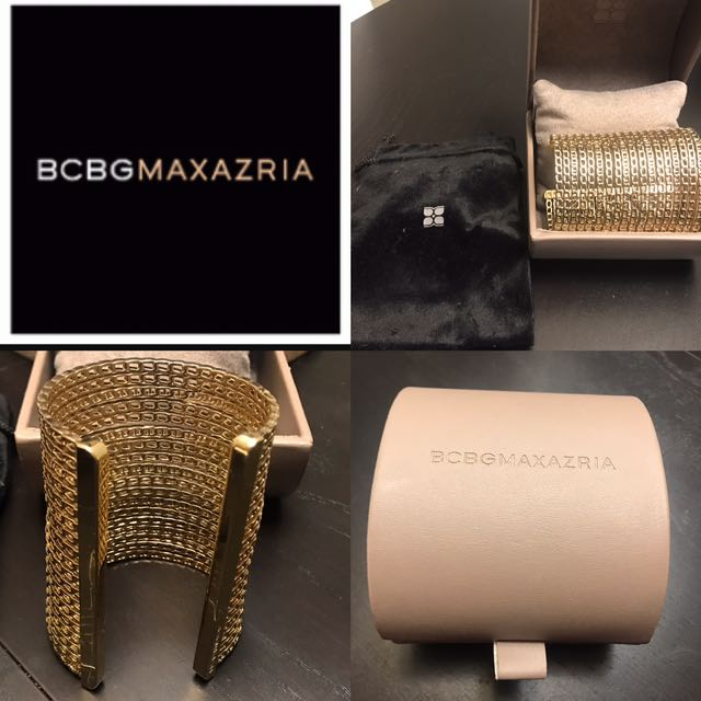 BCBG Gold Bangle New With Box