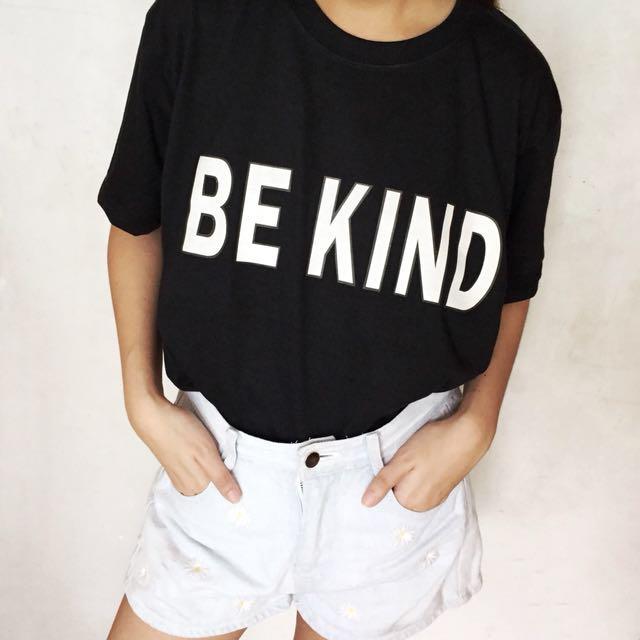 Be Kind - Black Oversized Shirt