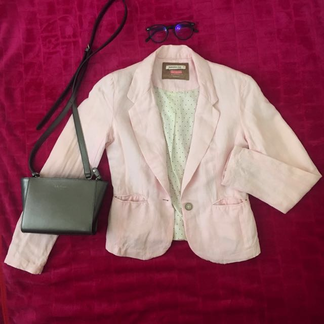 Bershka Baby Pink Blazer
