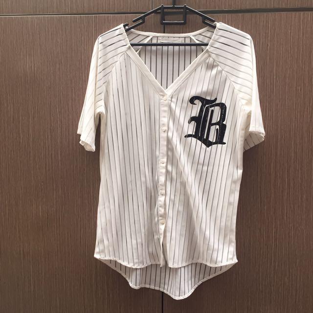 Bershka baseball top