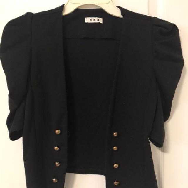 Black short cardigan