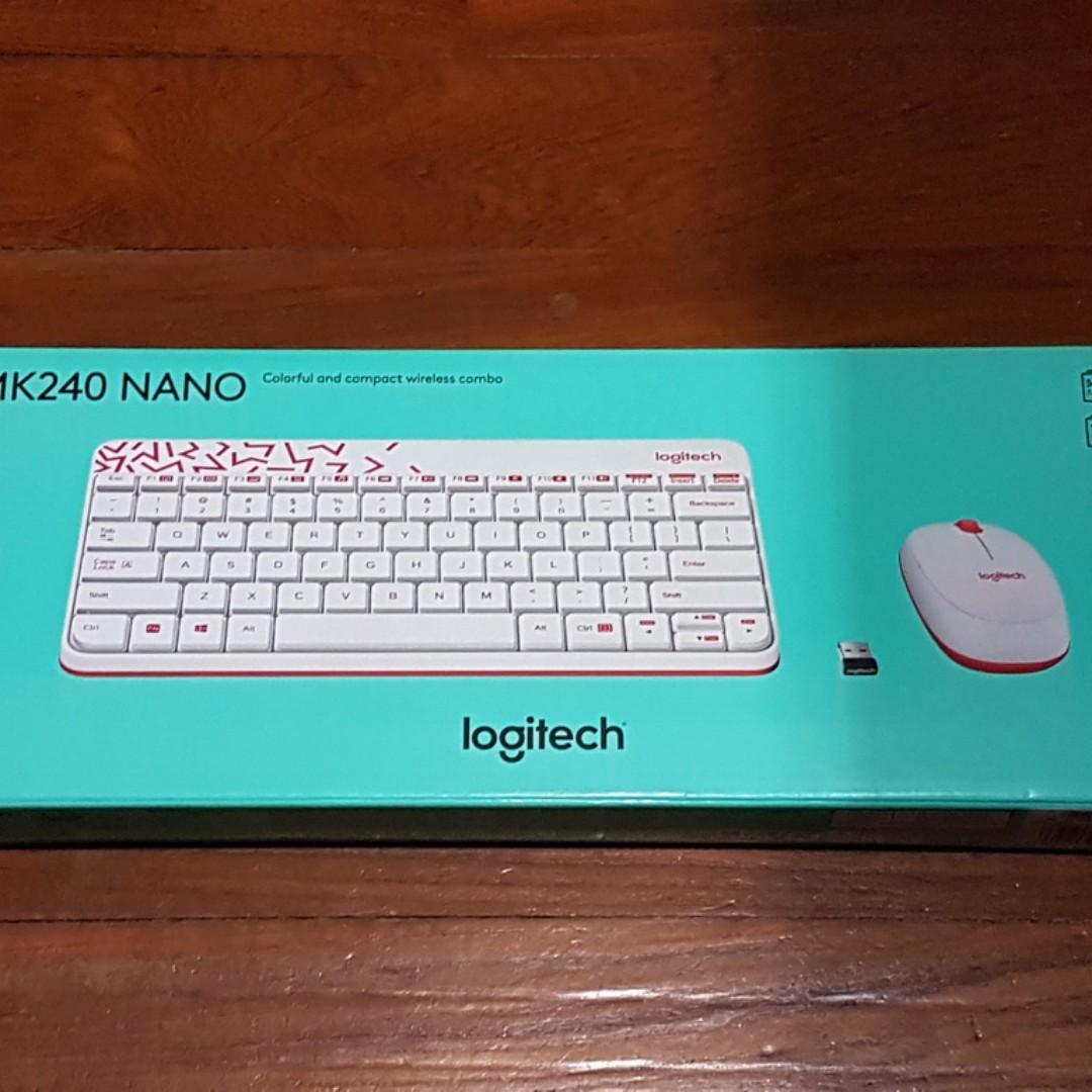 Logitech Mk240 Nano Wireless Keyboard And Mouse Combo White Daftar Bnib Vivid Red