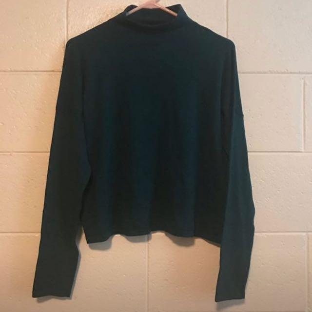 BNWOT Sportsgirl Dark Green Turtle Neck Long Sleeve Knit Jumper Sweater. Size M