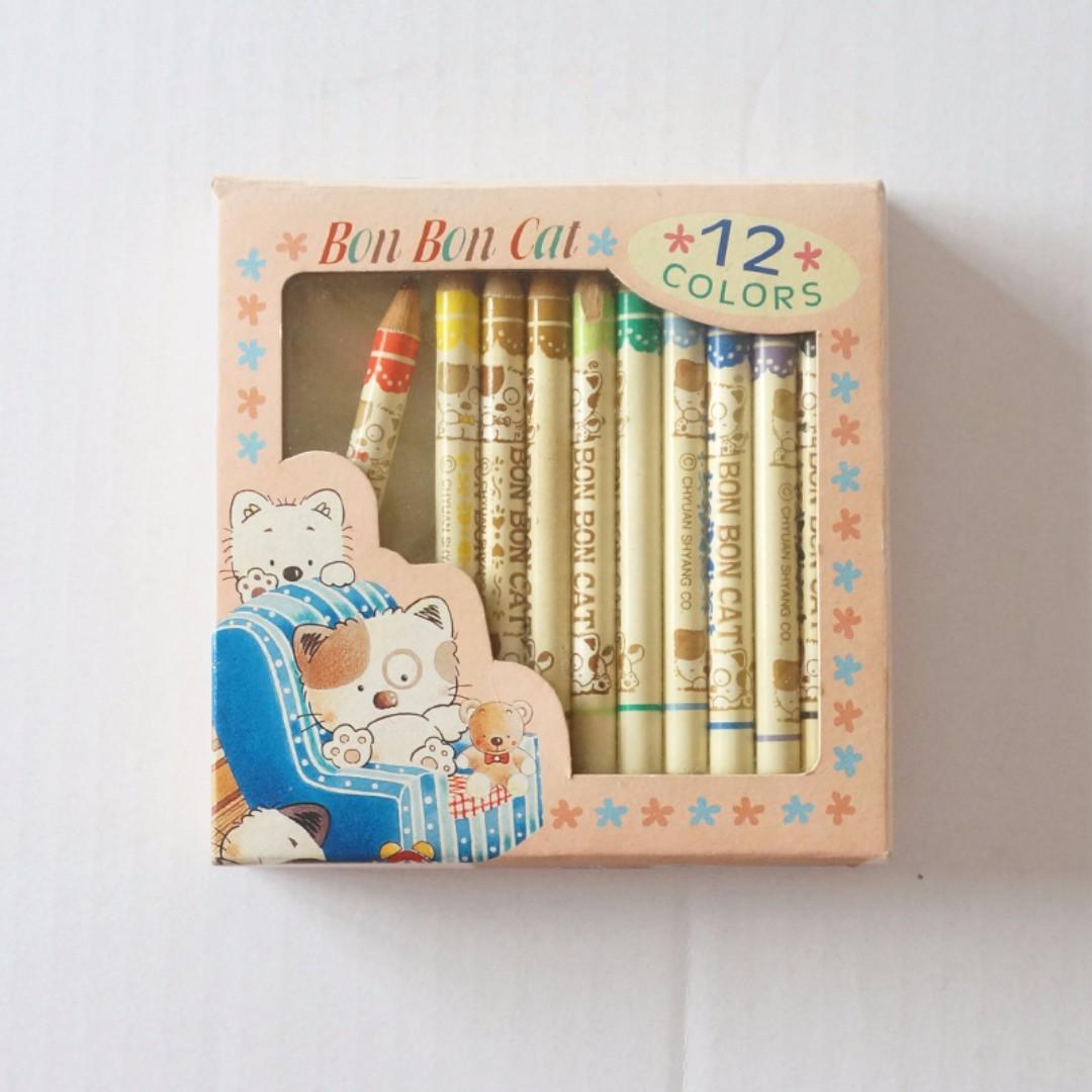 Bon-Bon Cat 彩色鉛筆盒裝組(12色) #幫你省運費