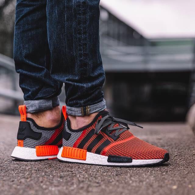 bd754c877fc53 Brand New with box AUTHENTIC Adidas NMD R1 (Lush Red Core Black ...