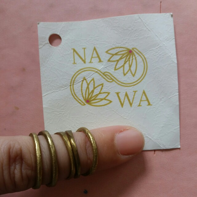 Brass Stackable Rings 5pcs