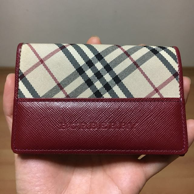 the latest 12979 02fa3 Burberry black label card holder Authentic