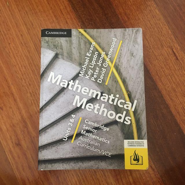 Cambridge Methods Unit 3/4 Textbook