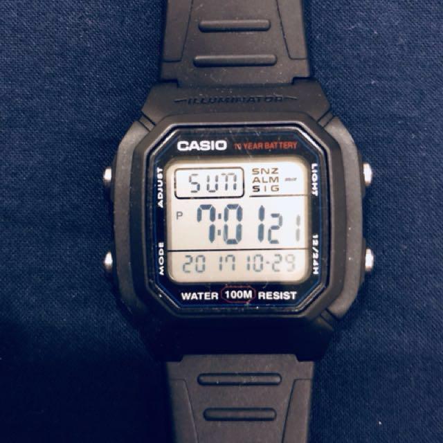 Casio 電子錶 當兵專用