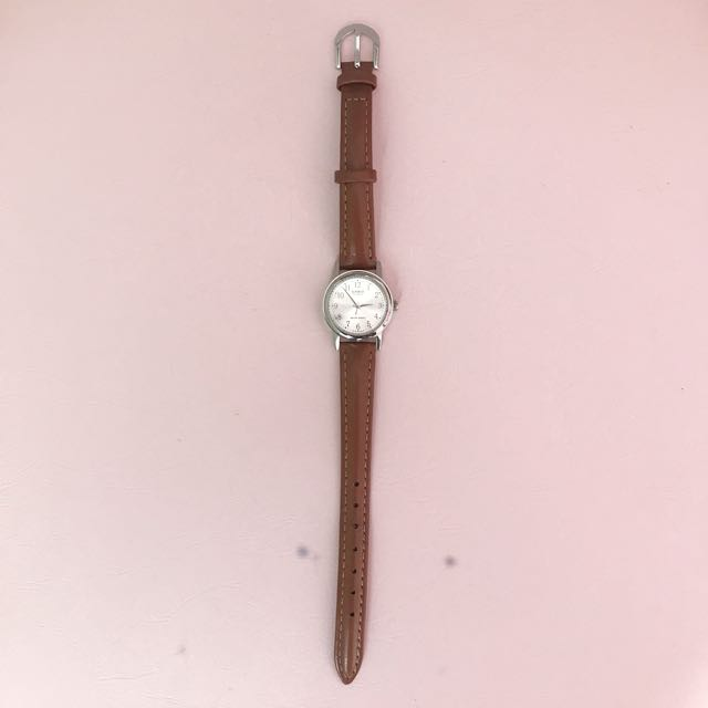 Casio Leather strap Watch