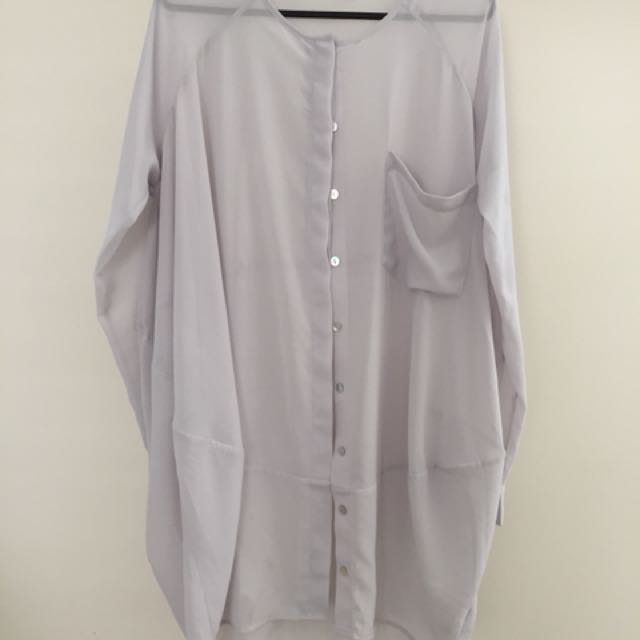 Chalice grey cardigan / summer coat / blouse