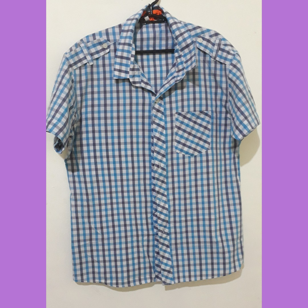Checkered short sleeved polo
