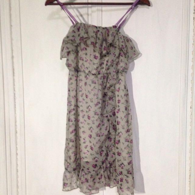 Chiffon Ruffle Dress