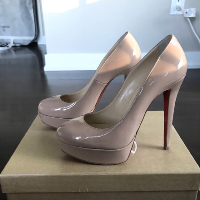 Christian Louboutin Bianca Platform Pumps in nude