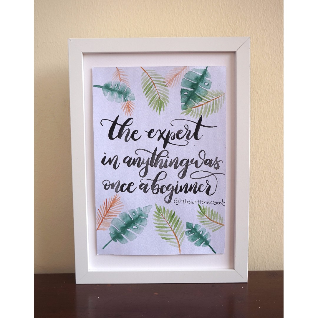 Christmas Gift Calligraphy Quote Meaningful Brush Lettering Wall Decoration Inspirational Quotes Design Craft Art Prints On Carousell