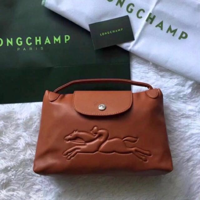 600904a19614 Clearance Sale - Longchamp Victoire Sling Bag (small tan colour ...