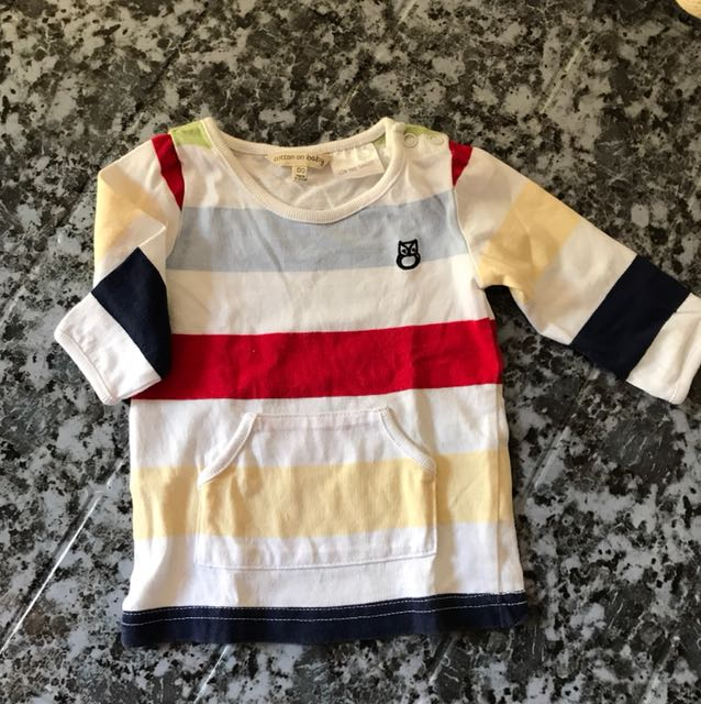 Cotton on baby sweat shirt for 0-1 month old
