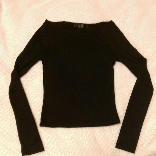 Cropped Long-Sleeve Top