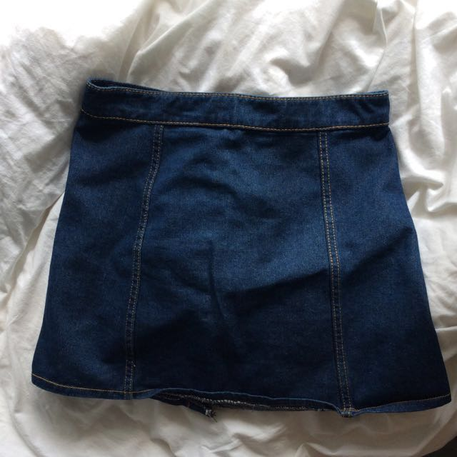 Cute denim skirt
