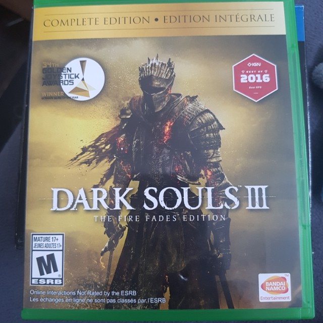 game dark souls iii - the fire fades edition - xbox one