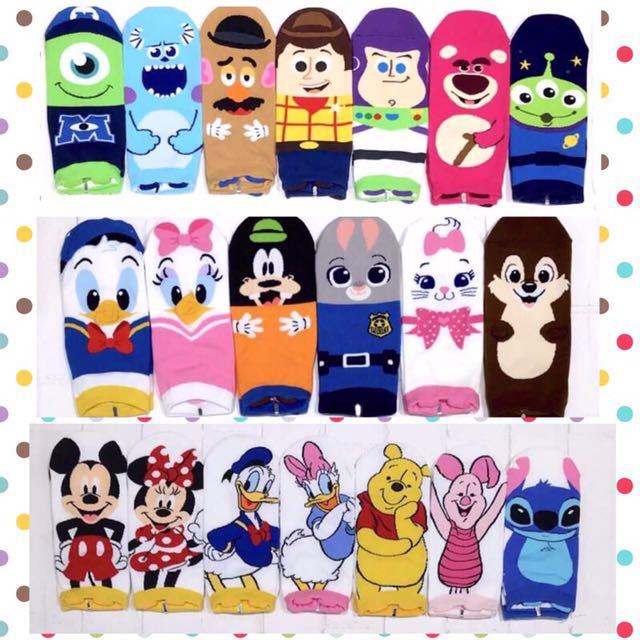 韓國帶回~Disney 迪士尼 最新款立體耳朵造型 短襪 學生襪 中筒襪
