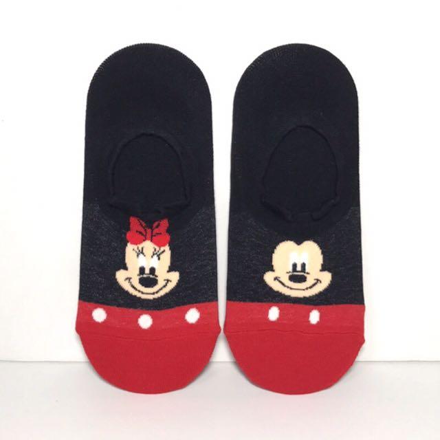 韓國帶回~Disney迪士尼 米奇&米妮 立體耳朵造型 隱型襪 船型襪 腳踝襪 學生襪 短襪中筒襪