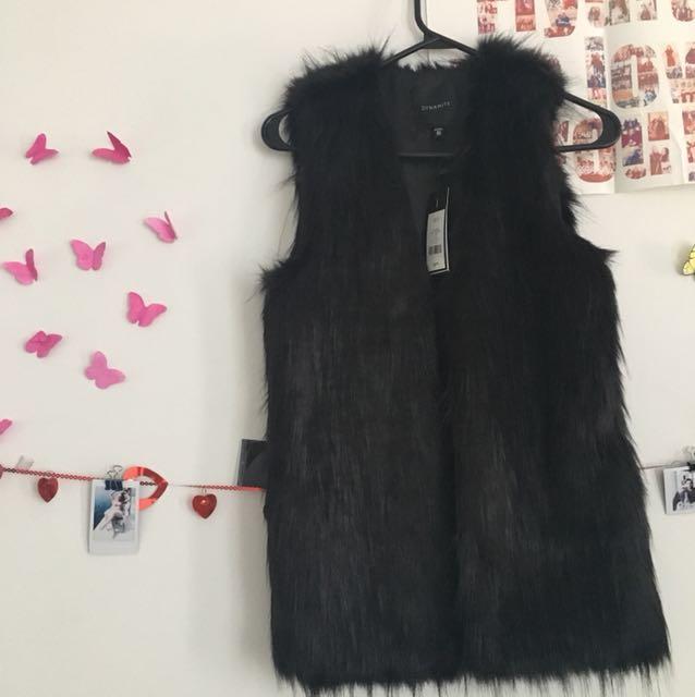 Dynamite Faux fur vest