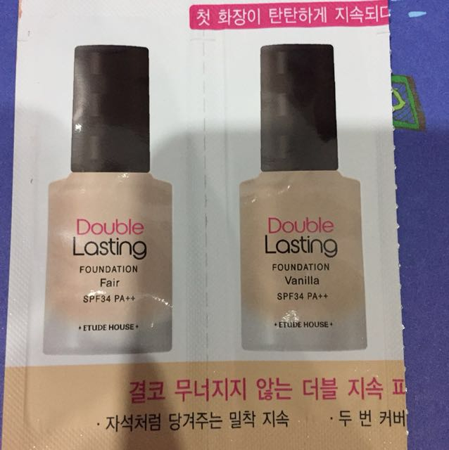 Etude house double lasting sample
