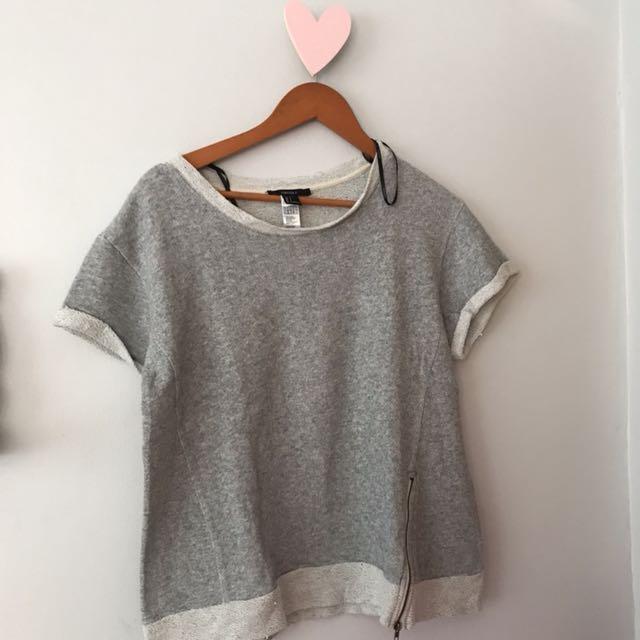 F21 gray top