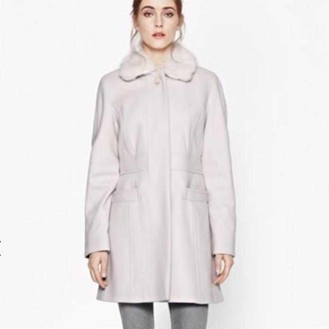 FCUK Platform Faux Fur Collar Jacket (size XS-S)
