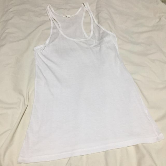Forever21 White Racer Back Top
