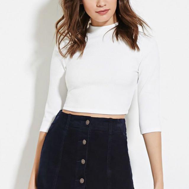 Forever 21 Black Button Up Mini Skirt