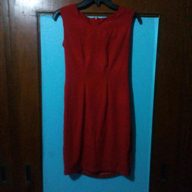 Formal Bodycon Red Dress