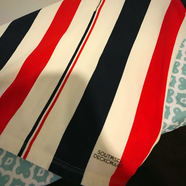Fred perry southsea deckchairs polo tshirt UK10 EU38