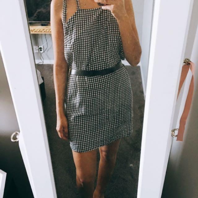 Gingham Print Dress